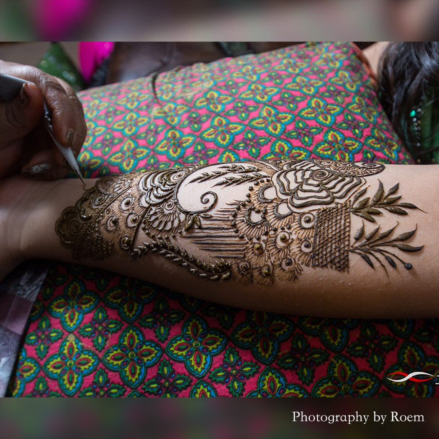 Applying Bridal Henna