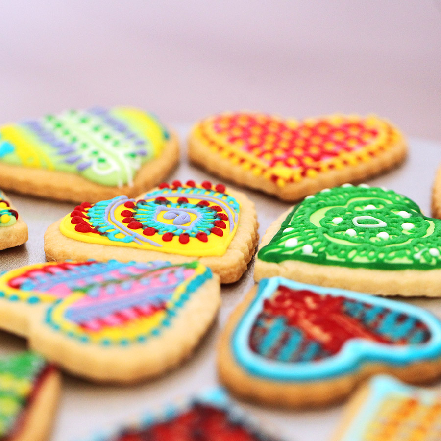 Mehndi Design Cookies